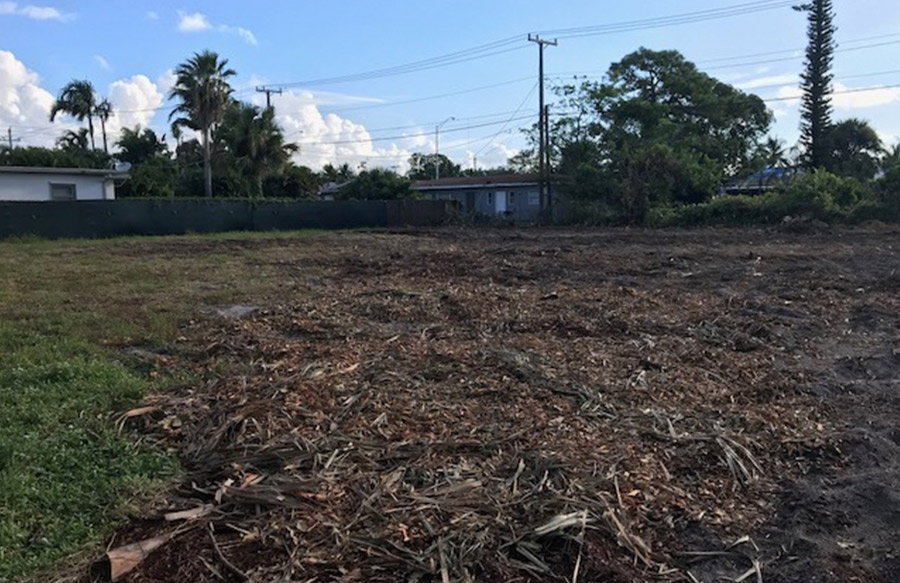 Palmera site is cleared and ready to break ground!